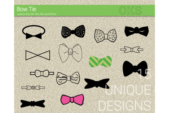 Download Free Bow Tie Svg Clipart Vector Graphic By Crafteroks Creative Fabrica for Cricut Explore, Silhouette and other cutting machines.
