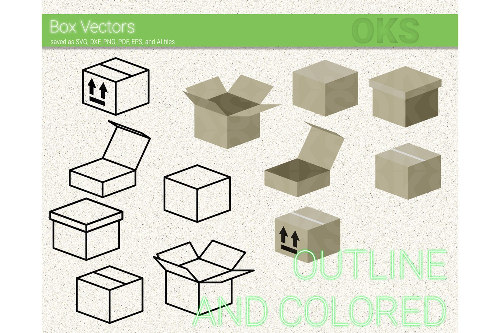 Download Free Box Icon Svg Vector Clipart Graphic By Crafteroks Creative Fabrica for Cricut Explore, Silhouette and other cutting machines.