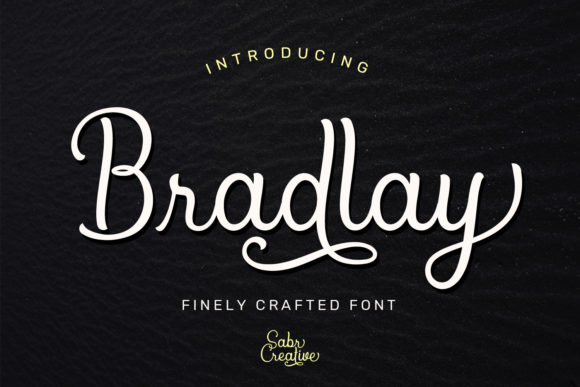 Print on Demand: Bradlay Script & Handwritten Font By sabrcreative