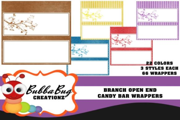 Branch Open End Candy Wrapper Set Graphic Crafts By BUBBABUG