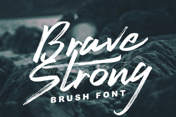 Print on Demand: Brave Strong Script & Handwritten Font By Lettersiro Co.