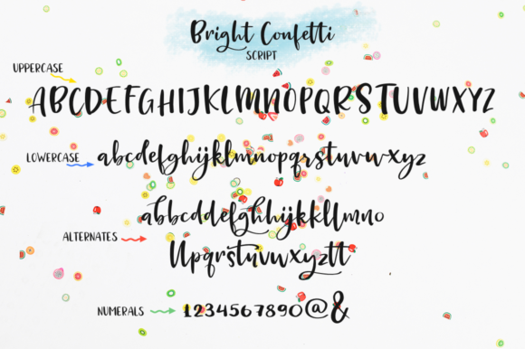 Print on Demand: Bright Confetti Script & Handwritten Font By Pasha Larin - Image 9