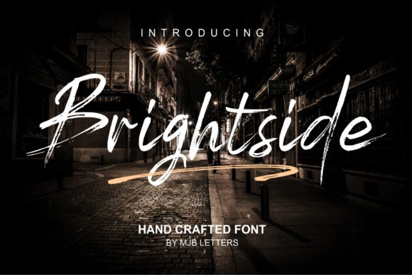 Print on Demand: Brightside Script & Handwritten Font By MJB Letters