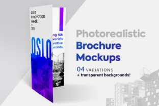 Brochure Mockup Set Tri-fold Graphic Product Mockups By graphicdesignmarket