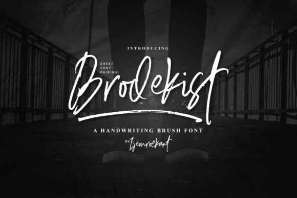 Print on Demand: Brodekist Script & Handwritten Font By Ijem RockArt - Image 1