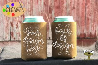Brown Can Cooler Mockup Graphic Product Mockups By 616SVG