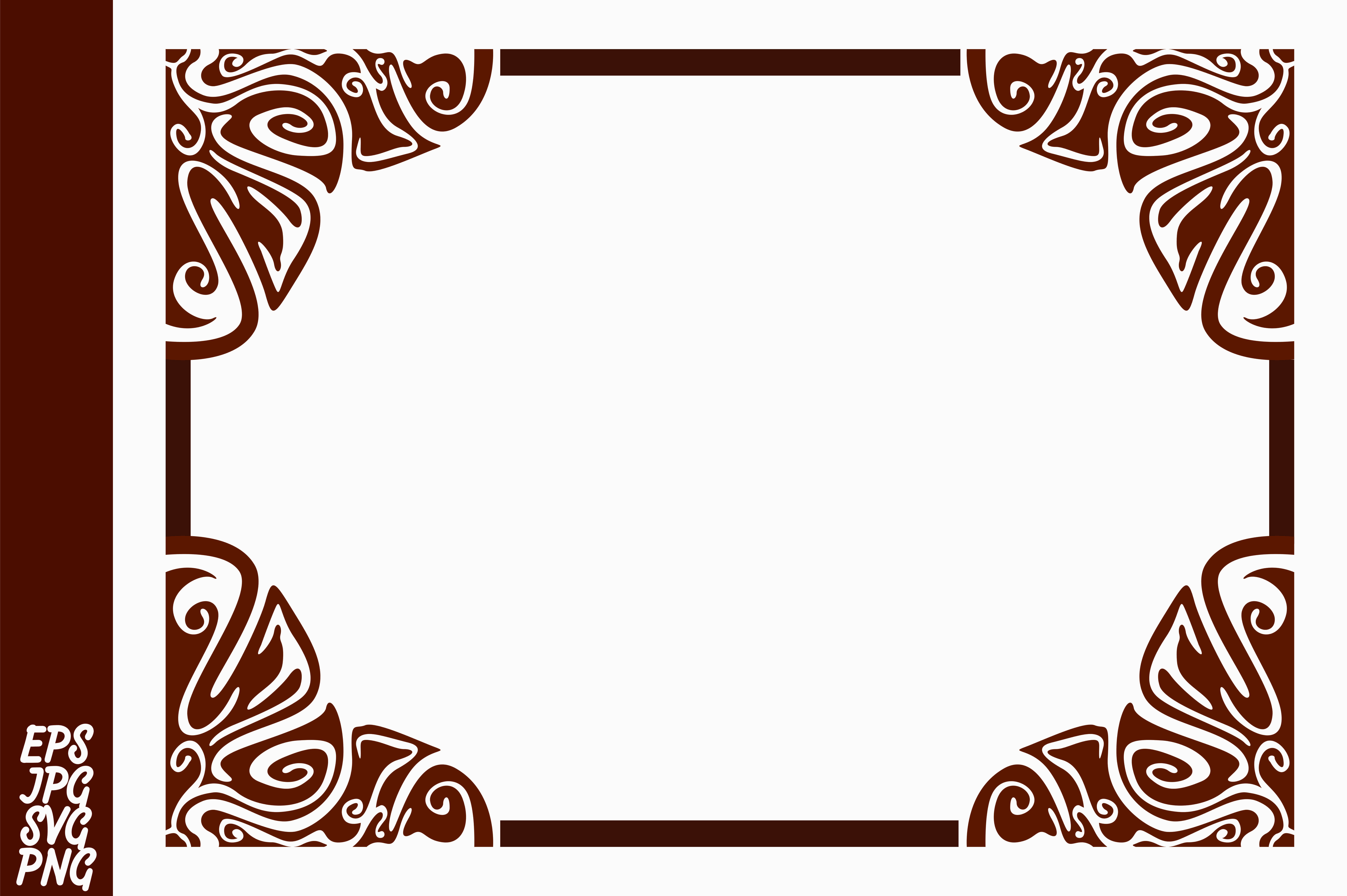 Download Free Brown Ornament Border Decorative Graphic By Arief Sapta Adjie for Cricut Explore, Silhouette and other cutting machines.