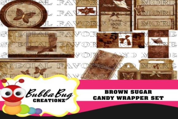 Brown Sugar Candy Wrapper Set Graphic Crafts By BUBBABUG