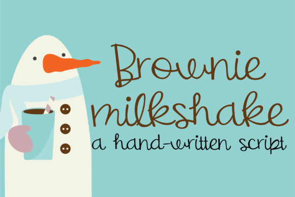 Print on Demand: Brownie Milkshake Script & Handwritten Font By Illustration Ink