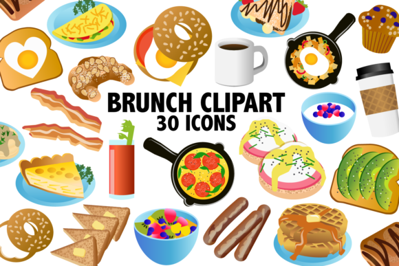 Print on Demand: Brunch Clipart Graphic Illustrations By Mine Eyes Design