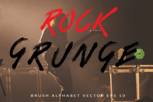 Download Free Brush Grunge Alphabet Vector Graphic By Aminmario Creative Fabrica for Cricut Explore, Silhouette and other cutting machines.