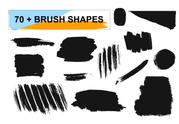 Brush Shapes & Strokes Graphic Download