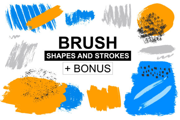 Download Free Brush Shapes Strokes Graphic By Anatartan Creative Fabrica for Cricut Explore, Silhouette and other cutting machines.
