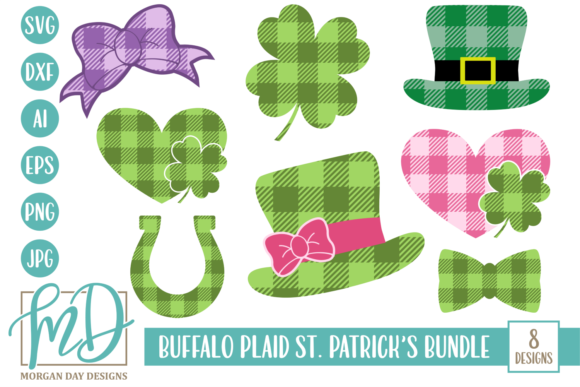 Download Free Buffalo Plaid St Patrick S Svg Bundle Graphic By Morgan Day for Cricut Explore, Silhouette and other cutting machines.