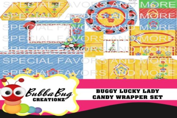 Buggy Lucky Lady Candy Wrapper Set Gráfico Crafts Por BUBBABUG