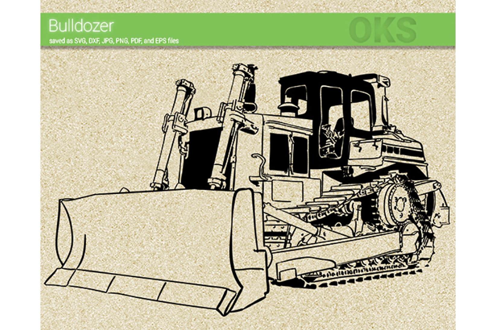 Download Free Bulldozer Vector Graphic By Crafteroks Creative Fabrica for Cricut Explore, Silhouette and other cutting machines.