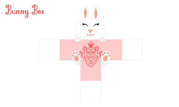 Print on Demand: Bunny Box Graphic 3D SVG By jgalluccio