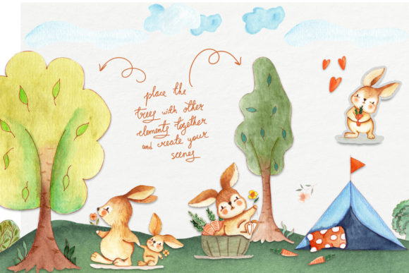 Bunny Camping Collection Graphic Item
