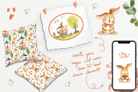 Bunny Camping Collection Graphic Design