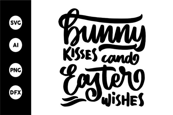 Print on Demand: Bunny Kisess and Easter Wishes Graphic Crafts By goodjavastudio