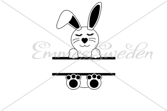 Download Free Bunny Split Easter Bunny Svg File Graphic By Emmessweden for Cricut Explore, Silhouette and other cutting machines.