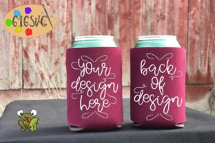 Burgundy Can Cooler Mockup Graphic Product Mockups By 616SVG