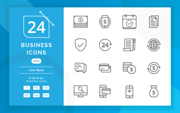 Business Icons Graphic Icons By irfanfirdaus19