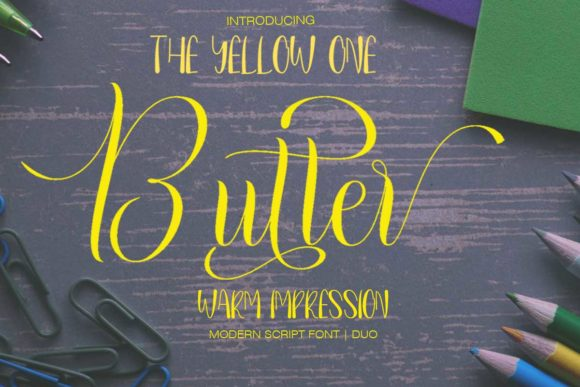 Print on Demand: Butter Script & Handwritten Font By Petterco