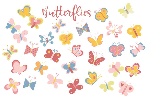 Print on Demand: Butterflies Graphic Illustrations By poppymoondesign