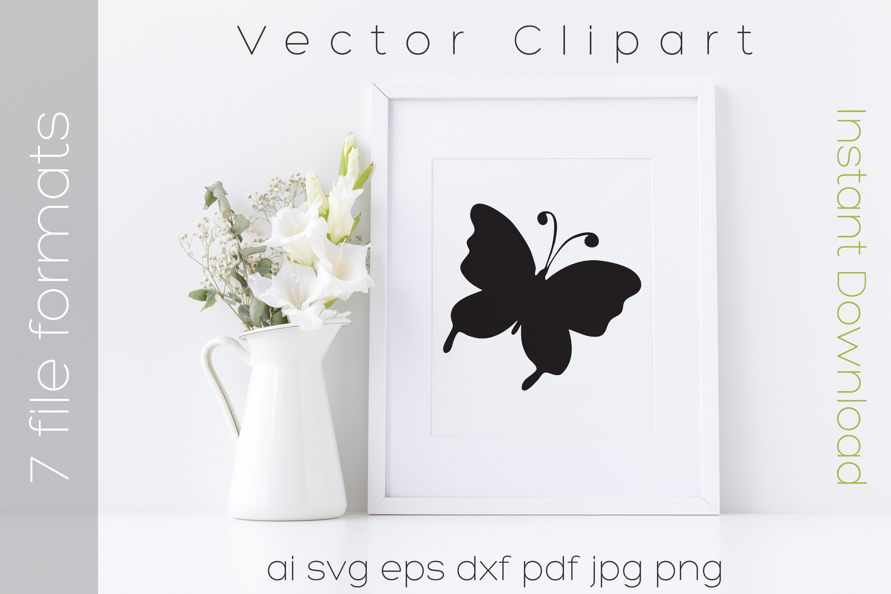Download Free Butterfly Black Clipart Graphic By Ibeartoo Creative Fabrica for Cricut Explore, Silhouette and other cutting machines.