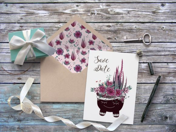 Cacti & Succulents in Purple Graphic By nicjulia Image 8