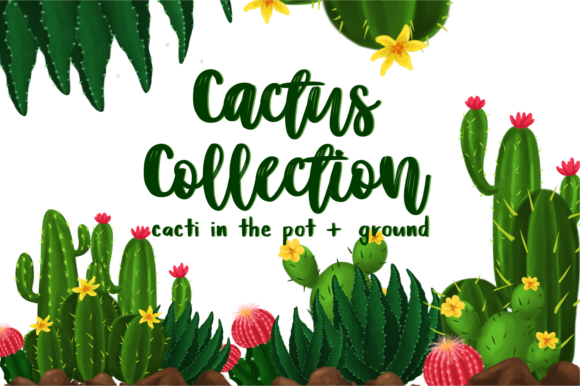 Download Free Cactus Collection Graphic By Geadesign Creative Fabrica for Cricut Explore, Silhouette and other cutting machines.