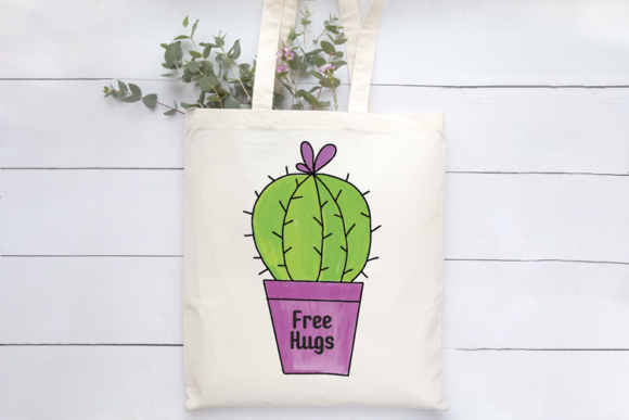 Cactus Hugs SVG Graphic Illustrations By carrtoonz