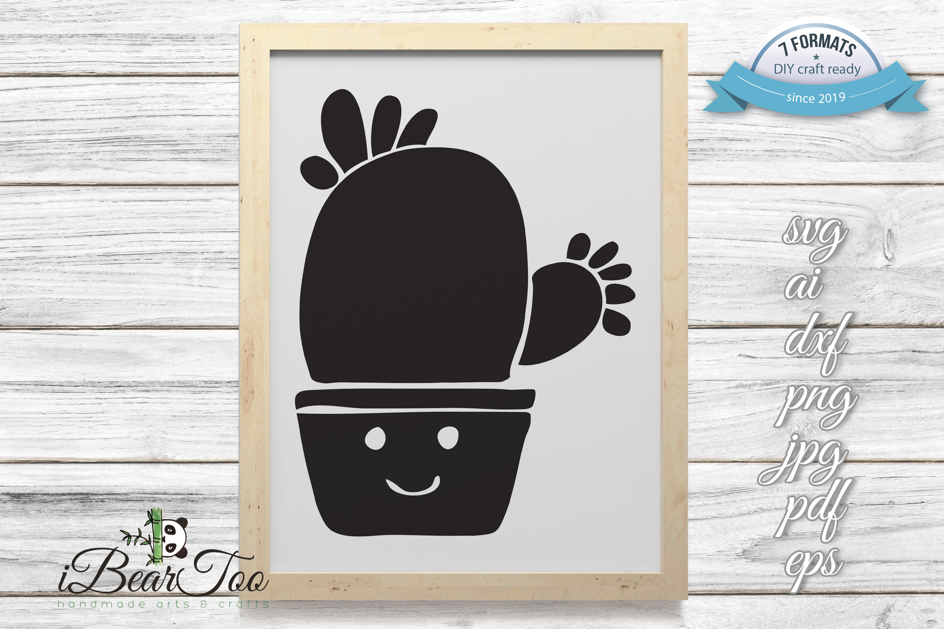 Download Free Cactus Vector Clipart Doodle Graphic By Ibeartoo Creative Fabrica for Cricut Explore, Silhouette and other cutting machines.