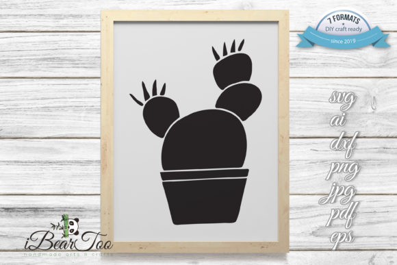 Download Free Cactus Vector Svg Clipart Doodle Graphic By Ibeartoo Creative for Cricut Explore, Silhouette and other cutting machines.