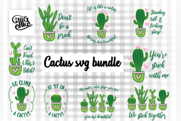 Cactus Svg Bundle Graphic By Illustrator Guru