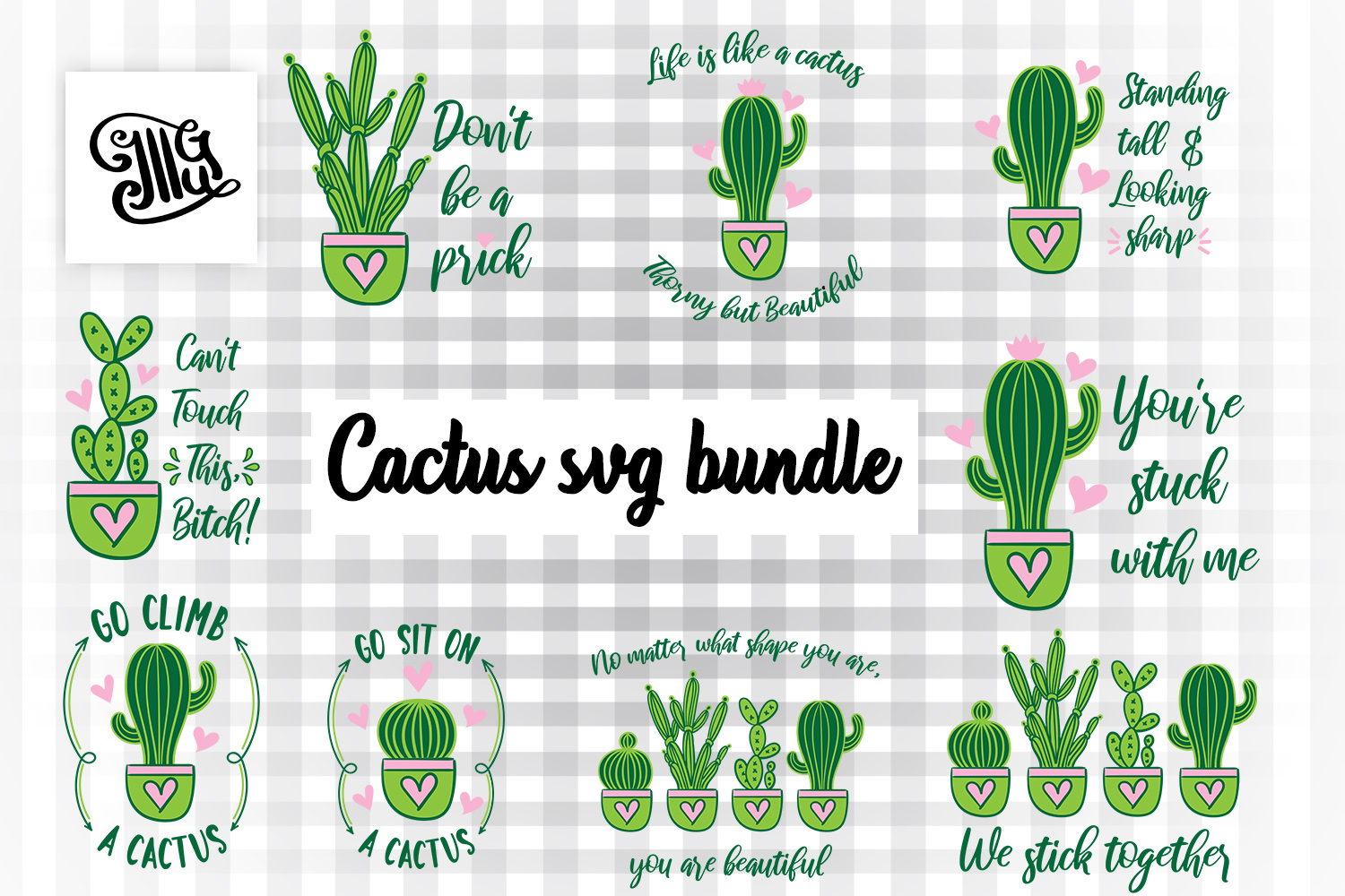 Download Free Cactus Bundle Graphic By Illustrator Guru Creative Fabrica for Cricut Explore, Silhouette and other cutting machines.