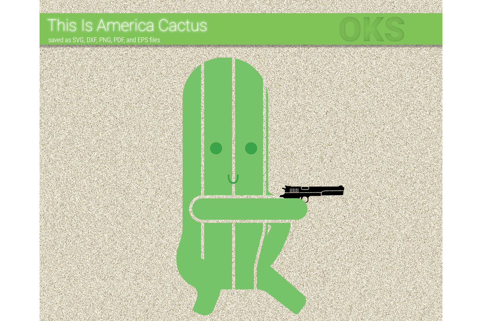 Download Free Cactus With A Gun Svg Vector Graphic By Crafteroks Creative Fabrica for Cricut Explore, Silhouette and other cutting machines.