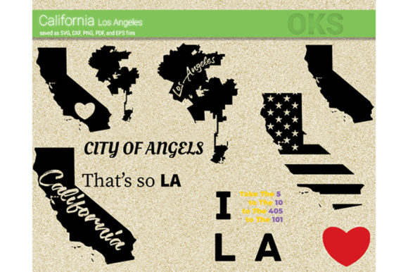 Download Free California Los Angeles Svg Vector Graphic By Crafteroks for Cricut Explore, Silhouette and other cutting machines.