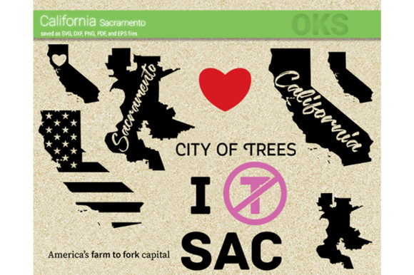 Download Free California Sacramento Svg Vector Graphic By Crafteroks for Cricut Explore, Silhouette and other cutting machines.