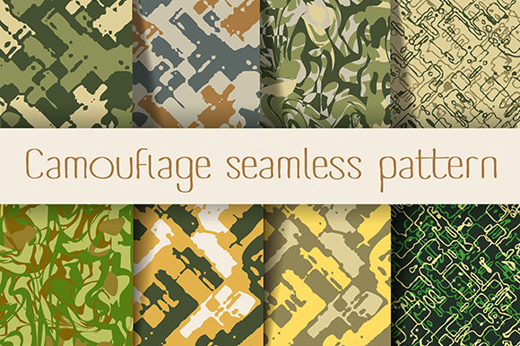 Print on Demand: Camouflage Seamless Graphic Crafts By AlexZel