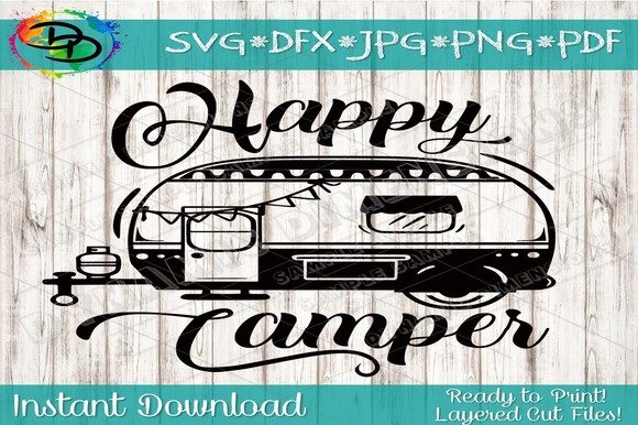 Download Free Camper Camping Svg Graphic By Dynamicdimensions Creative Fabrica for Cricut Explore, Silhouette and other cutting machines.