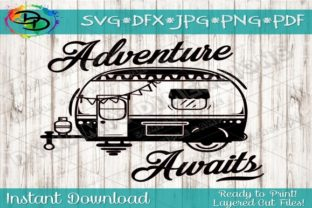 Download Free Camper Adventure Awaits Graphic By Dynamicdimensions Creative for Cricut Explore, Silhouette and other cutting machines.