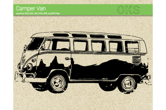 Print on Demand: Camper Van Svg Vector Graphic Crafts By CrafterOks