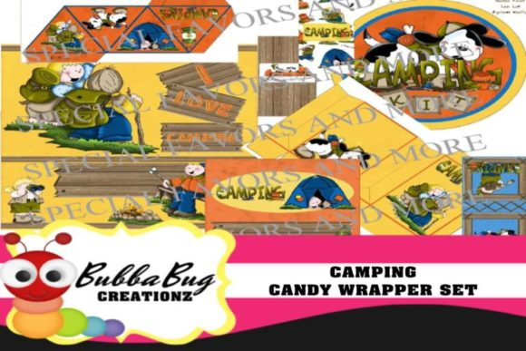 Camping Candy Wrapper Set Graphic Crafts By BUBBABUG