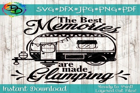 Download Free Camping Glamping Graphic By Dynamicdimensions Creative Fabrica for Cricut Explore, Silhouette and other cutting machines.