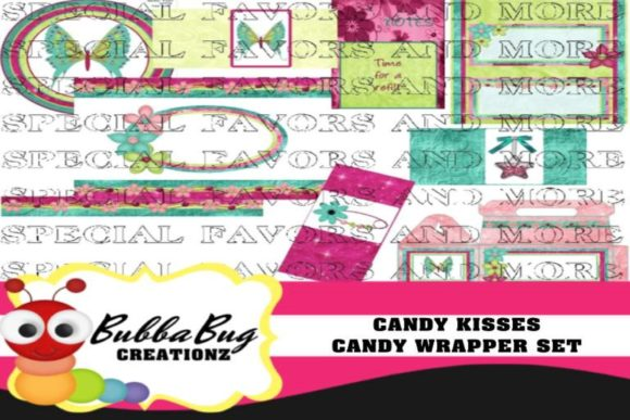 Candy Kisses Candy Wrapper Set Graphic Crafts By BUBBABUG