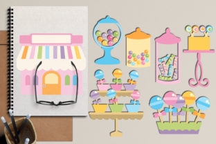 Candy Shop Graphic By Revidevi