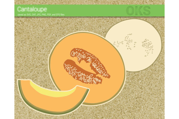 Download Free Cantaloupe Fruit Svg Vector Graphic By Crafteroks Creative Fabrica for Cricut Explore, Silhouette and other cutting machines.