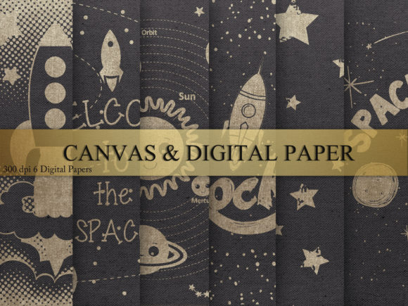 Print on Demand: Canvas & Digital Paper Graphic Textures By Creative Paper
